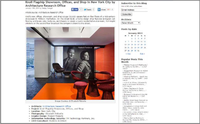 AECCafeKnoll Flagship Showroom, Offices, and Shop in New York City by Architecture Research Office